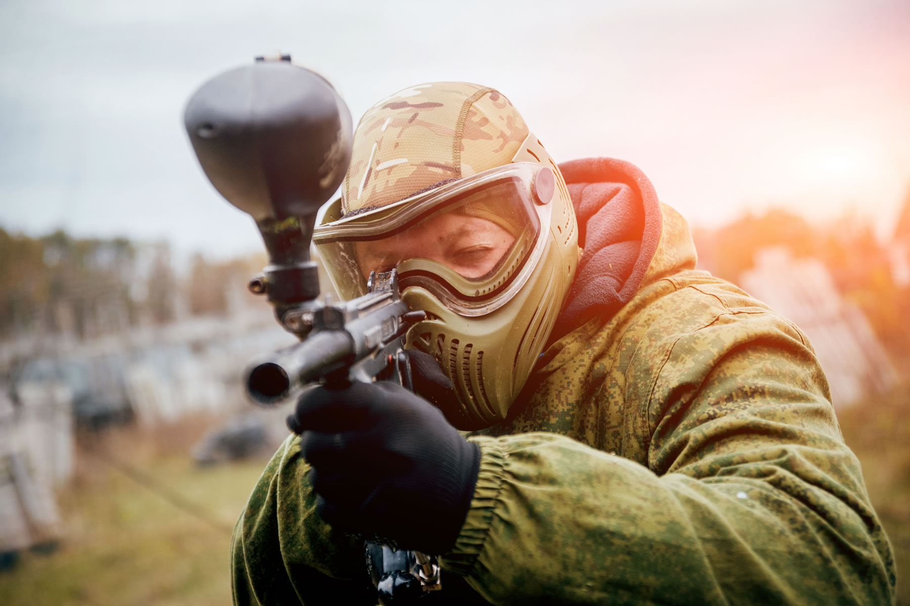 Behaal de meeste punten tijdens onze Paintball shoot-out