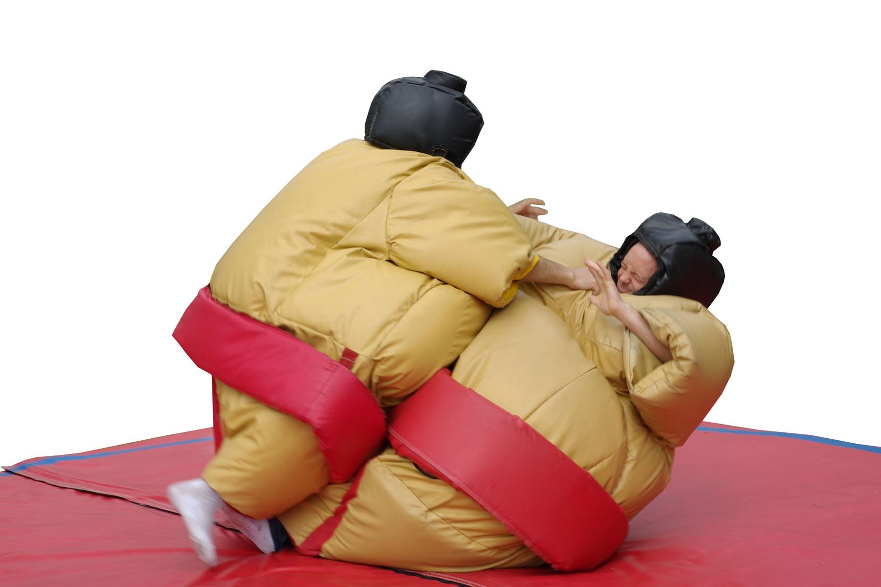 Kruipen jij en tegenstander in het lichaam van een sumoworstelaar?